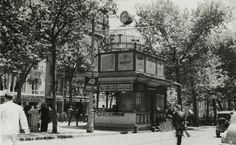 J. Francés Estorch. Quiosco de bebidas de la Rambla de Canaletes, 1951 Barcelona, Street View, Photography, Postcards, Modernism, Vernacular Architecture, Fotografia, Old Pictures, Exhibitions