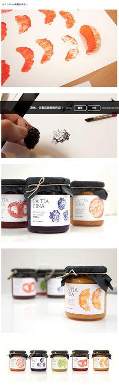 La Ta Fina果酱包装设计