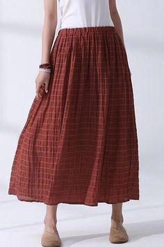 cb41a972e975db Fashion Casual Striped Linen Shirt Women Long Blouse For Autumn –  FantasyLinen