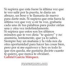 Versos de Gabriel garcia marquez de amor   Gabriel García Márquez - Frases