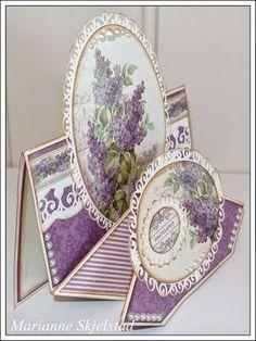 Mariannes papirverden.: Diamond fold card - Pion Design