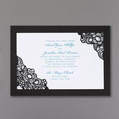 9aa5826e023b5 Black Die Cut - Invitation - Add whimsy to your special event with this  bright white