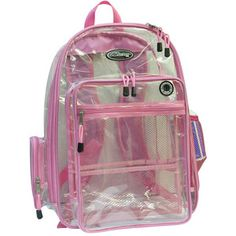Clear backpacks, mesh backpack, extra large backpacks, printed logo or school name on clear bookbag or clear briefcases, clear bags Mesh Backpack, Rucksack Bag, Backpack Bags, Purple Bags, Pink Purple, Pink Bags, Clear Backpacks, Clear Bags, Print Logo