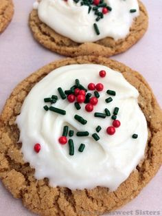 Soft Ginger Molasses Cookies with Cream Cheese Frosting
