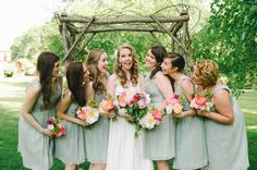 Glittery Webb Barn Wedding from Michelle Gardella Photography. Wedding Mint Green, Summer Wedding, Rustic Wedding Colors, Rustic Weddings, Mint Green Dress, Green Colour Palette, Different Shades Of Green, Bridesmaid Dresses, Wedding Dresses
