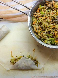 Frühlingsrollen mit 2 süß-scharfen Dippsaucen Im Ofen gebacken, nicht frittiert!