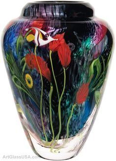 Art Glass coral reef vases by Mayauel Ward