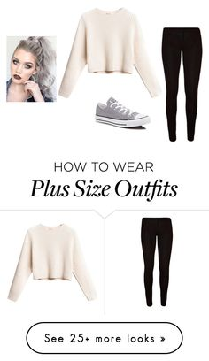 """gray"" by shawnhemmings on Polyvore featuring Converse"