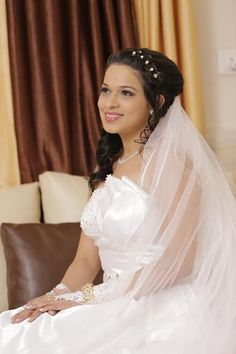 Take a look at today& real wedding having tons of special touches! White Wedding Dresses, Prom Dresses, Formal Dresses, Bridal Makeup Looks, Wedding Makeup, Christian Weddings, Indian Wedding Hairstyles, Gray Weddings, Wedding Blog