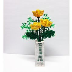 Custom LEGO Bouquet of Yellow Roses and Baby's by FoldedFancy, $250.00