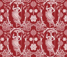 Imperial China Paper Cutting fabric by vannina on Spoonflower - custom fabric