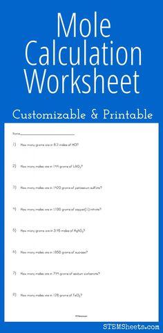 Chemistry Formula Sheet  Chemistry Worksheet Naming Formula