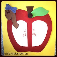 Miss Kindergarten: Apple Graphs and Glyph (cute art project to add to our apple writing next week!)