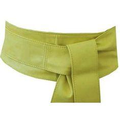 Poltsa Yellow Leather Obi Belt from The Latest Thing