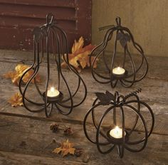 Gourd Candle Holders