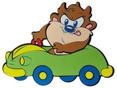 Looney Toons Taz | ΦΙΓΟΥΡ ΤΟΙΧΟΥ BABY TAZ CAR Μedium Baby Looney Tunes