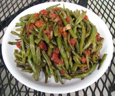 Louanne's Kitchen: Haricot Vert with Tomatoes