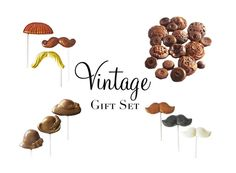 Gift Set  Vintage Chocolate by TheFrostedPetticoat on Etsy, $25.00
