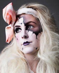 maquillaje disfraz mueca rota bosque hijos traje de mueca de porcelana maquillaje de mueca de porcelana maquillaje fx ideas de maquillaje