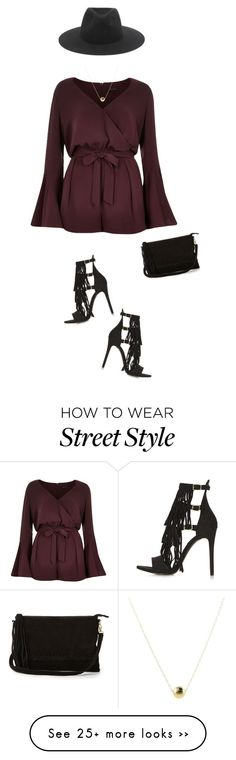 """Marsala jumpsuit !"" by azzra on Polyvore featuring River Island, Topshop, Warehouse, rag & bone and nyfwstreetstyle"
