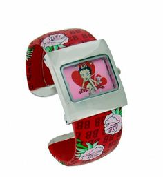 Betty Boop #BB-W354B Women's Bangle Watch Betty Boop. $16.99. Water Resistant -  NOT. Precise Quartz Movement. Case Size:  30mm Diameter, 8.5mm Thickness. Mineral Crystal, 3 Hand Analog Display. Stainless Steel Back Cover, Leather Like Band. Save 43%!
