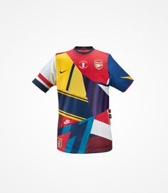 Commemorative shirt by Nike celebrating 20 years with Arsenal. (Not an Arsenal fan). Nike Football Kits, Arsenal Football, Soccer Kits, Football Design, Football Pitch, Arsenal Kit, Arsenal Jersey, Arsenal Players, Manchester United