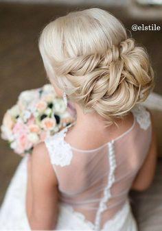 Half-updo, Braids, Chongos Updo Wedding Hairstyles / http://www.deerpearlflowers.com/wedding-hair-updos-for-elegant-brides/4/ (bridesmaid makeup winter)