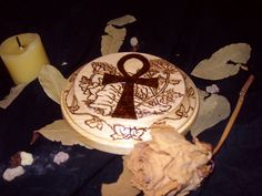 MadetoOrder Custom Woodburnt Altar Tile by WitchysCrafts on Etsy, $12.00 Updated listing with more options!