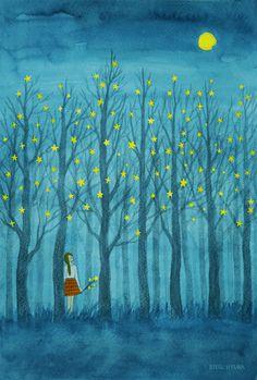 기억은 별이 되어 나무에 맺히고  나의 숲은 계속 자라고 있었다.   Copyright ⓒ별현아 All Rights Reserved.