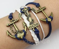 Bronze Anchor Bracelet Character 3 Anchor by handworld on Etsy, $7.99