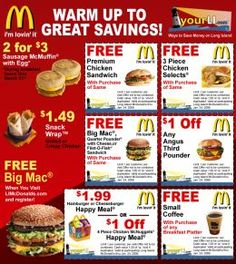 Get free McDonald's Gift Card code and buy anything for free on McDonald's. Free Mcdonalds Coupons, Free Food Coupons, Kfc Coupons, Free Printable Coupons, Grocery Coupons, Online Coupons, Print Coupons, Free Printables, Discount Coupons