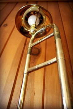 Recycled Trombone Sculpture Brass Desk Lamp by UpBeatAccents, $125.00