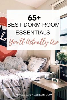 Wow I wish I had this dorm room essentials list when I was getting ready for school. It's perfect for your freshman year  or you been there a while already. And include the list for guys and girls and freshman. You should find a lot of these dorm room essentials on Amazon. These are some college dorm room essentials that every college student needs.#dormroomessentials #dormroom #dorms