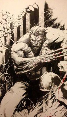 Logans - by ♠ Comic Art, Comic Kunst, Comic Books Art, Marvel Fan Art, Marvel Comics Art, Marvel Heroes, Wolverine Tattoo, Wolverine Art, X Men