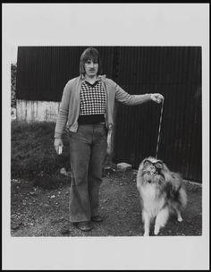 Keith Arnatt 'Walking the Dog', © Keith Arnatt Estate Collie Dog, Dog Walking, Dogs, Artwork, 1970s, Photography, Work Of Art, Photograph, Auguste Rodin Artwork