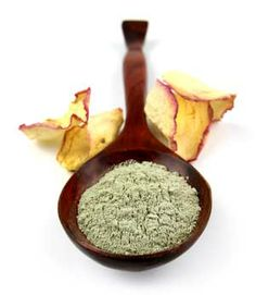 French Green clay from MountainRoseHerbs.com    great for breakouts & fast healing--seriously stimulates blood circulation