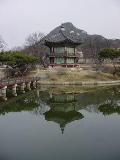 Gyeongbok Palace in Seoul Korea