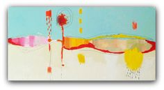 """Modern Art  an Original Abstract Painting by Christina Romeo 36"""" x 18"""" Titled """"BackSpace"""""""