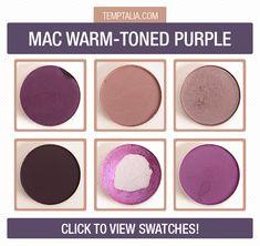 MAC Warm-Toned Purple Eyeshadows:  Fig. 1, Haux,  Shale,  Shadowy Lady, Stars N' Rockets, and Vibrant Grape