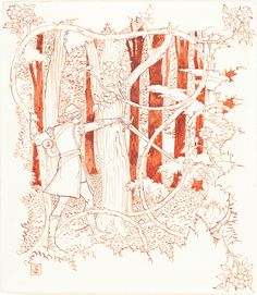 TREES IN ART L'ARBRE DANS L'ART | Walter Crane (British, 1845-1915), Prince Charming in the Forest