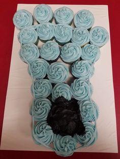Tar Heels Cupcakes