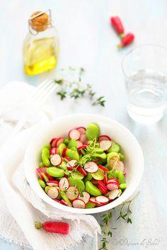 Un dejeuner de soleil: Salade de fèves et radis