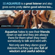 Absolutely true about the Aquarius, Leo's opposite. I love my Aquarian baby sis <3 She's always there for me #leo