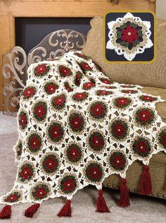 W628 Crochet PATTERN ONLY Christmas Holiday Glitter Afghan Pattern   BeadedBundles - Craft Supplies on ArtFire