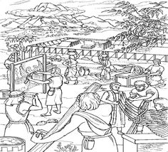 building tabernacle coloring page