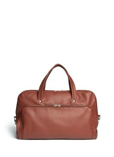 Classic leather bowling bag