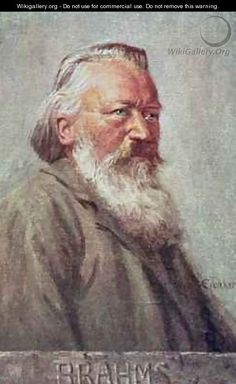 Portrait of Johannes Brahms, German composer - Albert Eichhorn