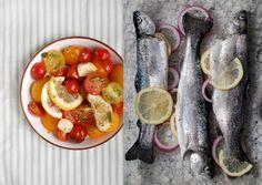 Trout and vegetables / Truite et légumes