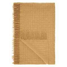 John Lewis Croft Collection Basket Weave Throw, Honey Online at johnlewis.com #FashionYourHome