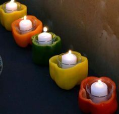 pepper candle holders